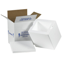 6x4.5x4 2 Quart Mini Styrofoam Coolers