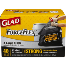 Glad ForceFlex Trash Bags 33 gallon-40 count