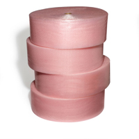 "1/2""x125' 4 rolls slit 12 Perfed 12 Pink Antistatic Bubble Wrap"