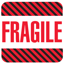 "4""x4"" Fragile Labels"