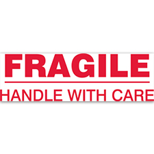 "2""x110yds Fragile Handle With Care Printed tape"