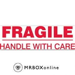 2x110yds Fragile Handle With Care Printed tape
