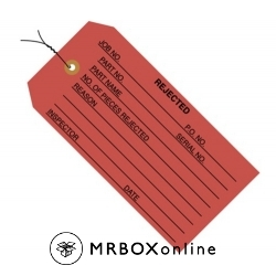 Rejected Red Inspection Tags