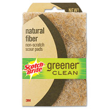 3M Scotch Brite Greener Clean Natural Fiber Sponge