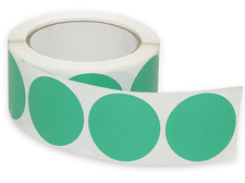 "2"" Green Inventory Circle Labels"