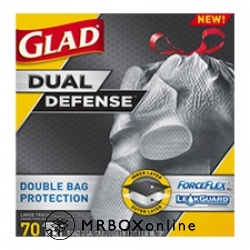 Glad Dual Layer Trash Bag 33 Gallon