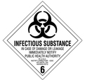 "Infectious Substance Labels 4""x4\"""