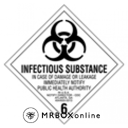 Infectious Substance Labels 4x4
