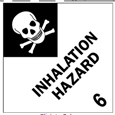 "Inhalation Hazard Labels 4""x4\"""