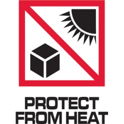3x4 Protect From Heat IP Labels
