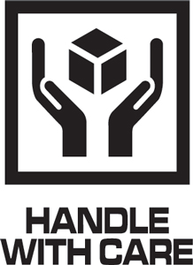 3x4 Handle With Care IP Labels