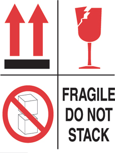 "4""x4"" Multi Purpose IP Fragile Labels"