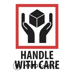3x4 Handle With Care Labels
