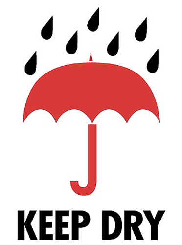 3x4 Keep Dry Labels
