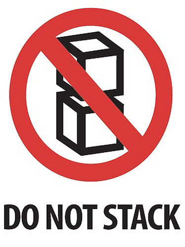 3x4 Do Not Stack Labels