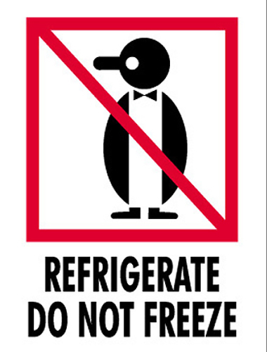 3x4 Refrigerate Do Not Freeze Labels