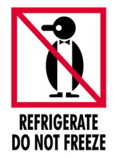 3x4 Refrigerate Do Not Freeze IP Labels