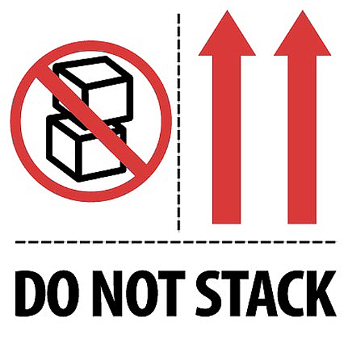 4x4 Do Not Stack Arrows Labels