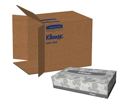 Kimberly Clark White Facial Tissues Economy