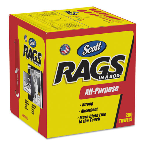 Scott Rags in a box 200 Ct  Case