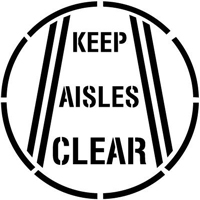 Keep Aisles Clear Floor Stencil