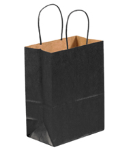 10x5x13 Black Tinted Shopping Bags
