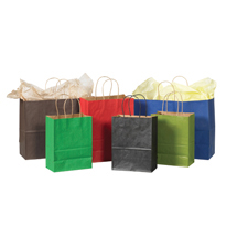Kraft Tinted Shopping Bags