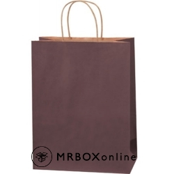10x5x13 Brown Tinted Shopping Bags