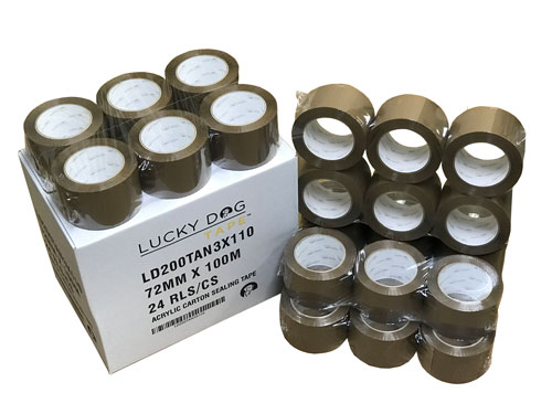 Lucky Dog 3x110 2.0 Mil Tan Box Sealing Tape