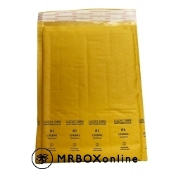 7.25x11.875 Lucky Dog Kraft Bubble Mailers #1