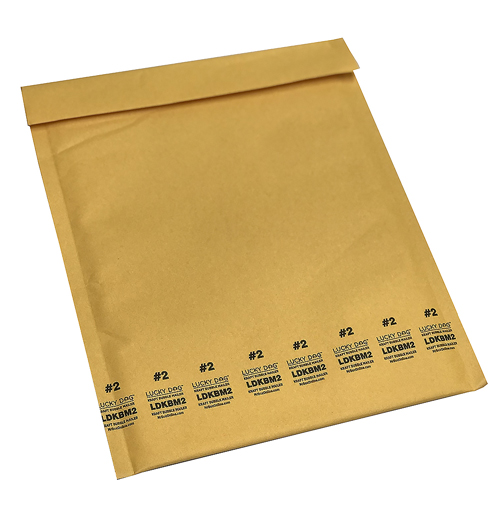 8.5x10.875 Lucky Dog Kraft Bubble Mailers #2
