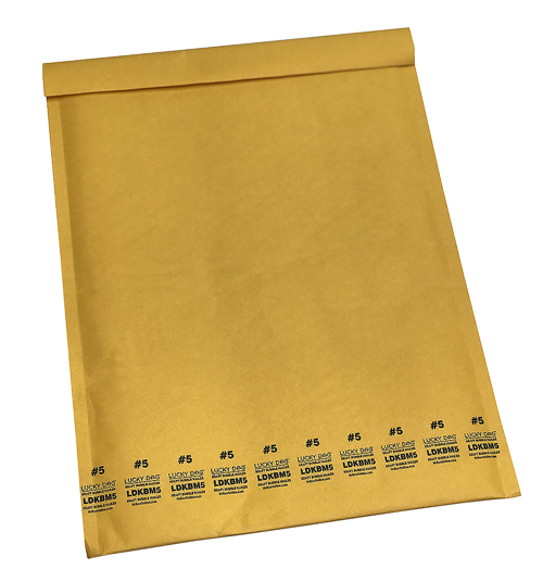 10.5x14.875 Lucky Dog Kraft Bubble Mailers™ #5