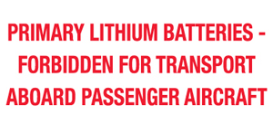 2x4 Primary Lithium Batteries Labels