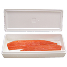 23x10.25x7.375 30 Quart Large Salmon Styrofoam Cooler