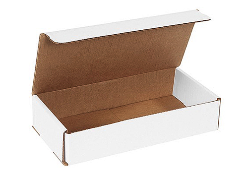 11x6.5x2.75 White Die Cut Literature Mailer Boxes