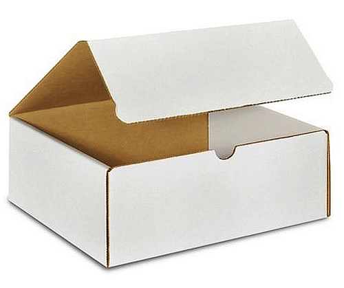 10x7x4 White Die Cut Mailer Boxes
