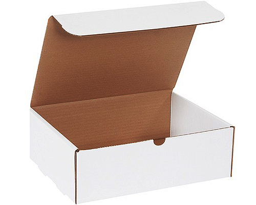 10x8x5 White Die Cut Mailer Boxes
