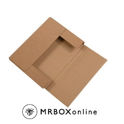 11-1/8x8-5/8x1 Brown One Piece Folder Box