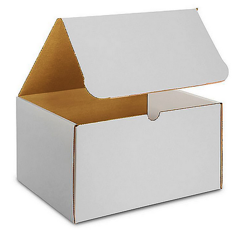 11.125x8.75x4 White Die Cut Literature Mailer Boxes