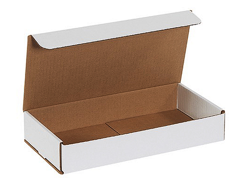 12x6x2 White Die Cut Mailer Boxes