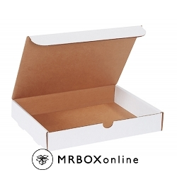 12.125x9.25x3 White Die Cut Literature Mailer Boxes