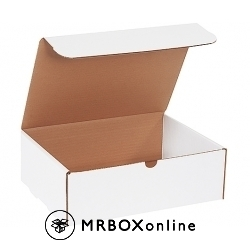 12.125x9.25x4 White Die Cut Literature Mailer Boxes