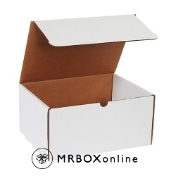 12.125x9.25x6 White Die Cut Literature Mailer Boxes