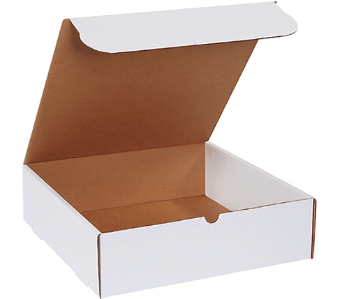 15.125x11.125x3 White Die Cut Literature Mailer Boxes