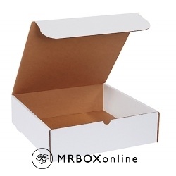 15.125x11.125x4 White Die Cut Mailer Boxes