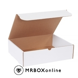 14.25x11.25x4 White Die Cut Literature Mailer Boxes
