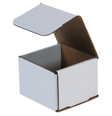 4x4x4 White Die Cut Mailer Boxes