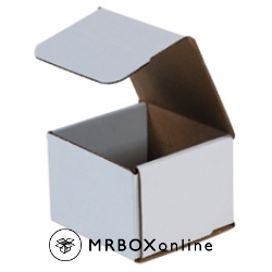 4.375x4.375x3.5 White Die Cut Mailer Boxes