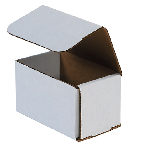5x3x3 White Die Cut Mailer Boxes