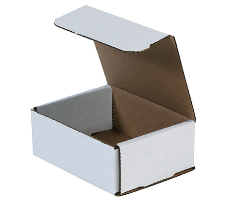5x4x2 White Die Cut Mailer Boxes